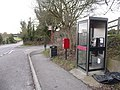 Boscombe, postbox No. SP4 270 and phone - geograph.org.uk - 1163735.jpg