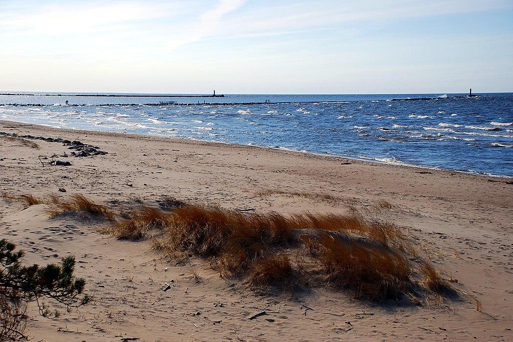 Près de la plage de Vecaki au nord de Riga en Lettonie. Photo de Peter Dunaskin