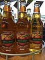 Bottles of Orchard Gold cider produced by Gwynt y Ddraig, The Welsh Cider and Perry Company.jpg