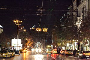 Vitosha Boulevard - Image: Boulevard Vitosha at night, Sofia PD 2012 7