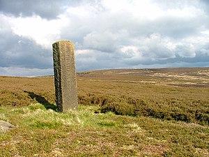 Frank Elgee - Boundary Stone, Urra Moor - geograph.org.uk - 11308