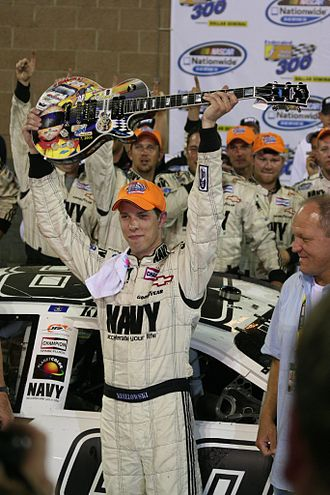 Brad Keselowski - Keselowski in victory lane following his first career Nationwide Series victory at Nashville Superspeedway.