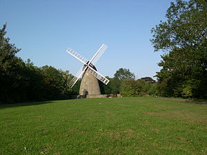 History of Milton Keynes - The windmill of 1815 near Bradwell village