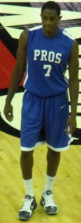 Brandon Knight (basketball) - Knight playing in an exhibition game at Kentucky after his career.