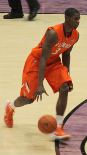 Brandon Paul - Paul playing for Illinois in January 2012