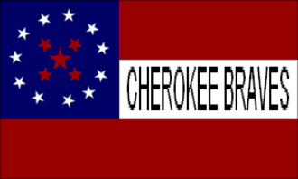 Indian cavalry - The Cherokee Braves Flag, as flown by Stand Watie.