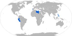 Bravia Chaimite - Map of Bravia Chaimite operators in blue
