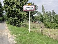 Braye-en-Thiérache (Aisne) city limit sign.JPG