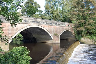 Bredbury - The weir at Otterspool was intended to provide water power for an industrial estate along the banks of the River Goyt.