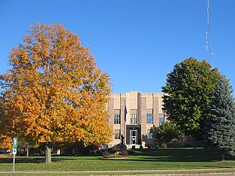 National Register of Historic Places listings in Bremer County, Iowa - Image: Bremer County IA Courthouse