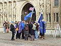 Brexit protesters, Cathedral Green, Exeter (geograph 5661309).jpg