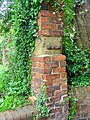 Brickwork, St Peters churchyard, Barton - geograph.org.uk - 1318130.jpg
