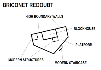 Briconet Redoubt - Image: Briconet Redoubt map