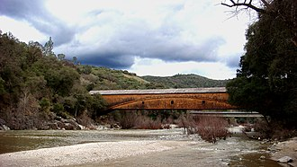 National Register of Historic Places listings in Nevada County, California - Image: Bridgeport Covered Bridge 2