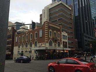 BAFS Building - Brisbane Associated Friendly Societies (BAFS) Building, corner of George and Turbots Streets, 2015