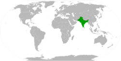 The British Indian Empire in 1945.