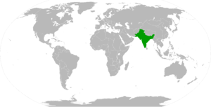 Interim Government of India - The British Indian Empire in 1945.