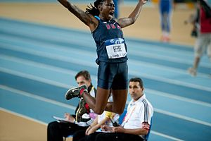 2012 IAAF World Indoor Championships – Women's long jump - Gold medal winner Brittney Reese during the competition.