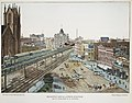 Broadway and 6th Avenue Junction. 33rd St. Elevated R.R. Station MET DR161.jpg