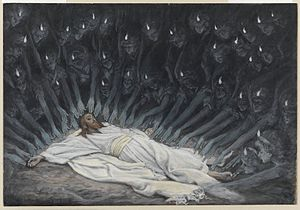 Temptation of Christ - Jesus Ministered to by Angels (Jésus assisté par les anges), James Tissot, Brooklyn Museum