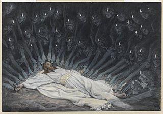 Jésus assisté par les anges