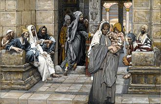Lesson of the widow's mite - The Widow's Mite (Le denier de la veuve) - James Tissot