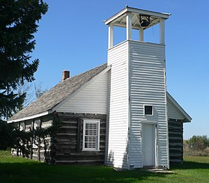 National Register of Historic Places listings in Grant County, South Dakota - Image: Brown Earth Church from ESE 1