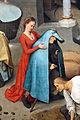 Bruegel il vecchio, proverbi fiamminghi, 1559, 20 mettere un manto azzurro al amrito.JPG