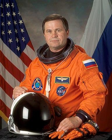 Cosmonaut Nikolai M. Budarin, flight engineer, NASA photo (24 June 2002) Source: Wikipedia (spaceflight.nasa.gov killed 25 Feb 2021) 384px-Budarin%2C_Nikolai_M.jpg