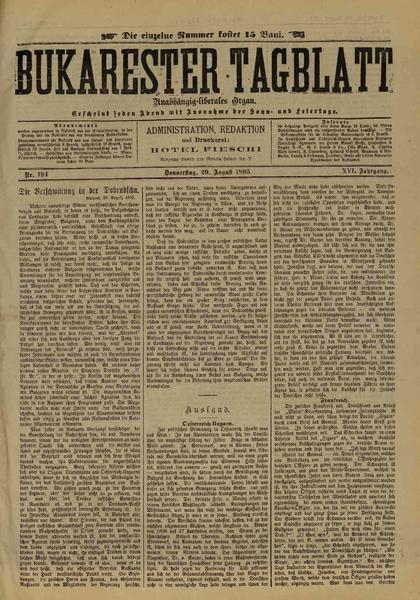 File:Bukarester Tagblatt 1895-08-29, nr. 194.pdf