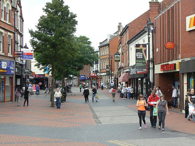 Bulwell Main Street, looking north - geograph.org.uk - 1465743