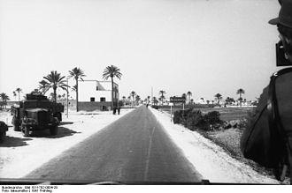 Misurata - Entrance to Misrata, 1941