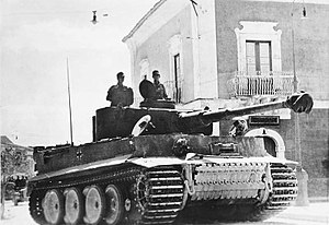 Tanks in the German Army - A German Tiger I tank.