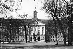 Allied Control Council - Kammergericht building in 1938 with its tower