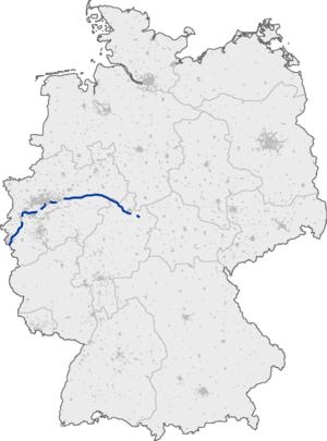 Bundesautobahn 44 - Image: Bundesautobahn 44 map