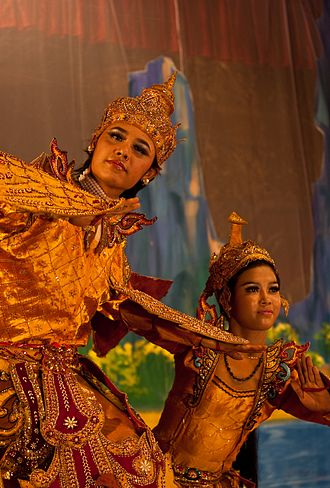 Culture of Myanmar - A theatrical performance of the Mon dance