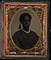 Bust portrait, young girl, cap with tassel. Cased tintype, ninth plate.jpg