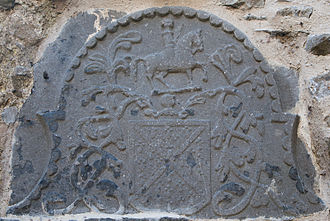 Earl of Desmond - Relief of coat of arms of the FitzGerald of Desmond in Buttevant Friary