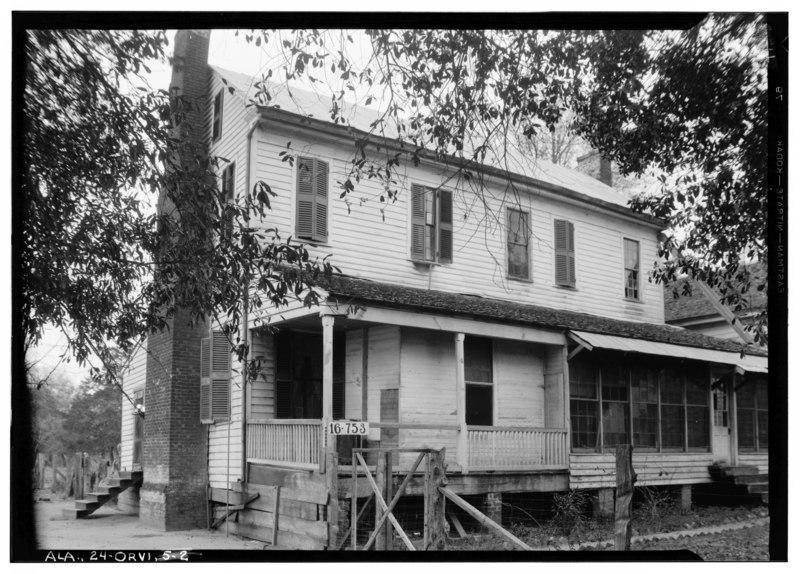 File:CA. 1825 STRUCTURE - Molette Houses, County Roads 33 and 31 vicinity, Orrville, Dallas County, AL HABS ALA,24-ORVI,6-2.tif