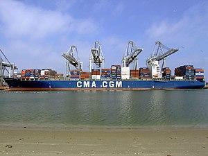CMA CGM Balzac IMO 9222273 , leaving Port of Rotterdam, Holland 18-May-2007.jpg