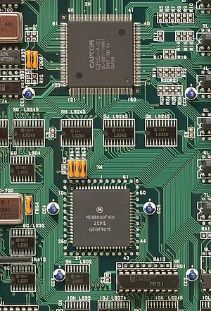 CP System - CP System's 10 MHz 68000 CPU and graphics IC