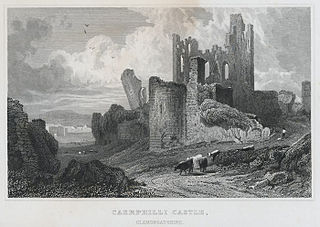 Caerphilli castle, Glamorganshire