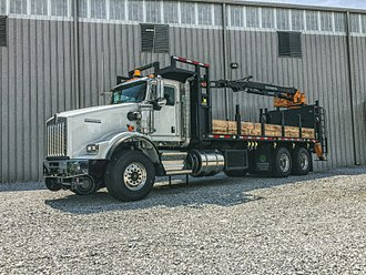 Road–rail vehicle - The Cahaba Material Handler. This vehicle is mainly used for hauling cross-ties and scrap metal for on-rail application. It is equipped with an electromagnet that assists in scrap and debris cleanup.