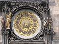 Calendar below the Prague Astronomical Clock (746946544).jpg