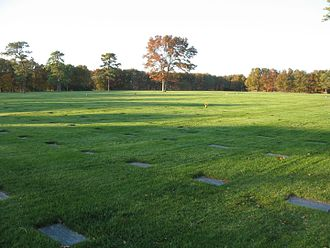 Calverton National Cemetery - Most of the fields in the cemetery have flat grave markers.