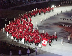 Canada at the 2014 Winter Olympics - Canadian Team during the Opening Ceremony of the 2014 Olympic Winter Games