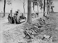 Canadese troepen dienen in de Eerste Wereldoorlog