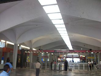 Félix Candela - Roof of Candelaria metro station, Mexico City