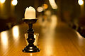Candle on table in Wine cellar-9473.jpg