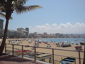 A view of Las Canteras Beach from La Puntilla....